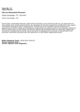 Bildiri - Ulusal Mühendislik Ölçmeleri Sempozyumu