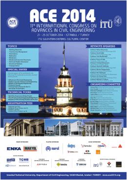 21 - 25 OCTOBER 2014 - ISTANBUL / TURKEY ITU