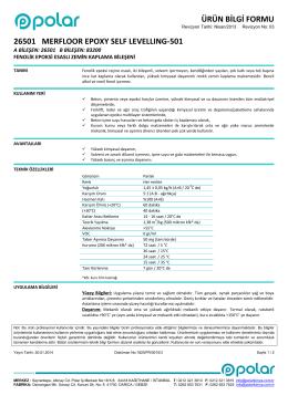 26501-MERFLOOR EPOXY SELF LEVELLING-501-TR