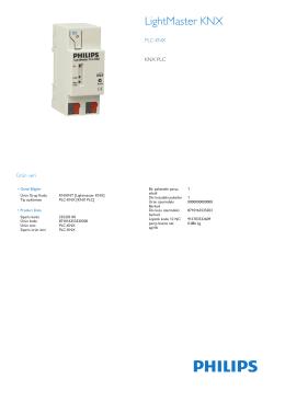 Product Leaflet: Philips PLC-KNX, KNX ağlarının düşük maliyetle