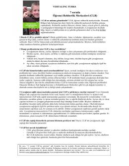 7 soruda Öğrenci Rehberlik Merkezleri (CLB)