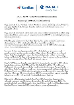 KTM ve Kawasaki ile İşbirliği