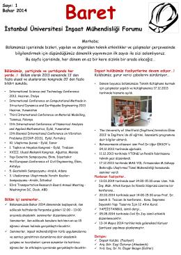 Baret - Sayı:1 - İstanbul Üniversitesi