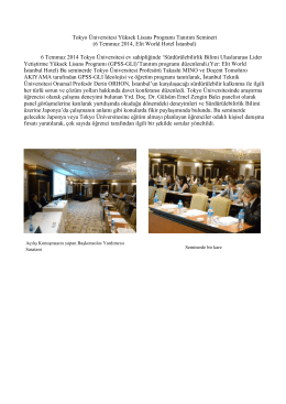 Tokyo Üniversitesi Yüksek Lisans Programı Tanıtım Semineri (6