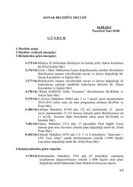 KONAK BELEDİYE MECLİSİ 04.08.2014