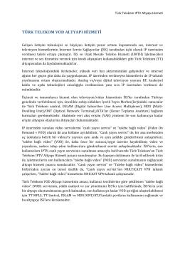 Türk Telekom VOD Altyapı Hizmeti
