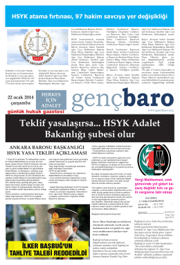 Genç Baro gazetesi 22.01.2014 pdf
