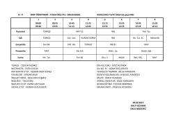 8-D Sınıfı Ders Programı