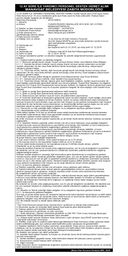 13.10.2014 Manavgat Belediye Zabıta Yardımcı