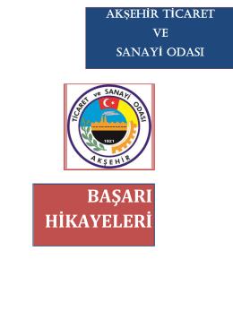 Report (Business design) - Akşehir Ticaret Ve Sanayi Odası
