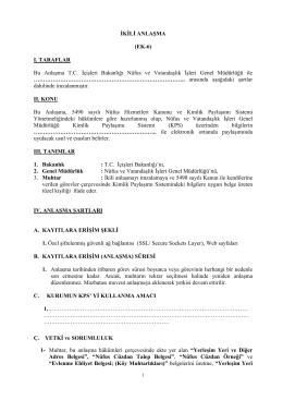 Muhtar Protokolü - Nüfus ve Vatandaşlık İşleri Genel Müdürlüğü