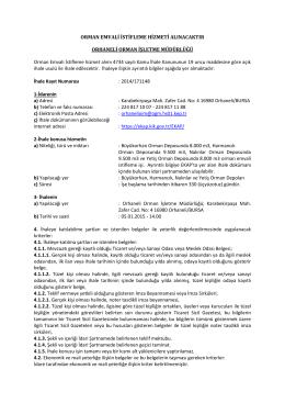 İhale İlanı_2014-171148 - Orman Genel Müdürlüğü
