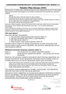 Tüketici İflas Davası - Landesarbeitsgemeinschaft