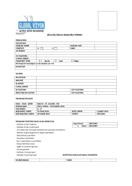 2014 kış okulu başvuru formu