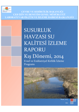 Susurluk Rapor Kış - Çevre ve Şehircilik Bakanlığı