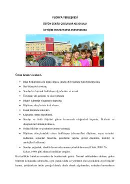 FLORYA YERLEŞKESİ - Çocuk Üniversitesi