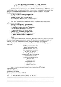 KARARLI DURUŞ (AZİM-CESARET-VAZGEÇMEMEK) Ş. Ali Acar