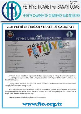 E-Bülten Sayı 16 - Fethiye Ticaret ve Sanayi Odası