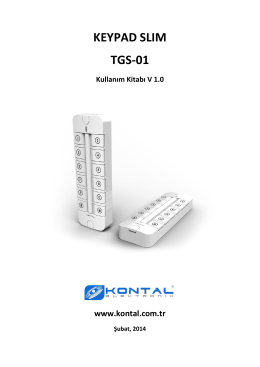 keypad slım tgs-01 - Kontal Elektronik