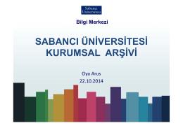 sabancı üniversitesi kurumsal arşivi