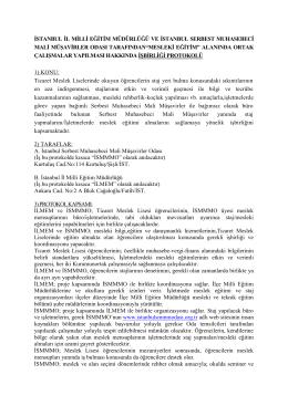 istanbul il milli eğitim müdürlüğü ve istanbul serbest muhasebeci