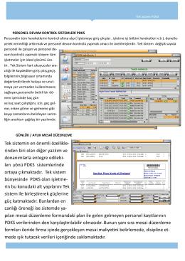 Personel Devam Kontrol Sistemleri(PDKS)