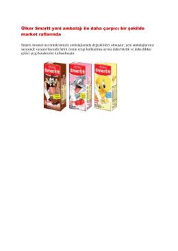 Ülker Smartt Süt Yeni Ambalaj Tasarımları