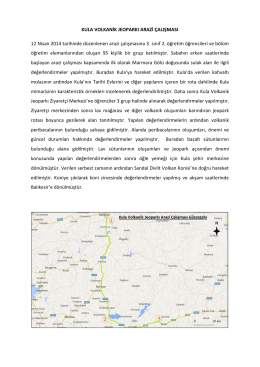 12 Nisan 2014, Marmara Gölü Sulak Alanı ve Kula Volkanik
