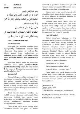 19/12/2012 Namaz Dinin Direğidir