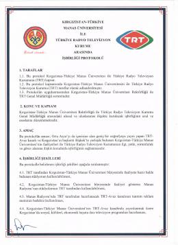 kırgızistan-türkiye manas üniversitesi türkiye radyo televizyon