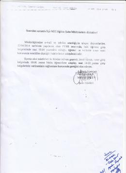 sınavdan §orun,lu İığ ııaiııi Eğitiın Müdürlüğümüze e-mail ve