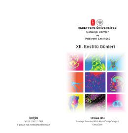 Dr. Murat Rezaki ve Dr. Günfer Gürer Aydın Konferansları XII. Enstitü