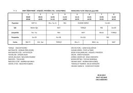 7-C Sınıfı Ders Programı