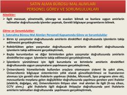 Mal Alımı – Görev ve Sorumluluklar - İstanbul Üniversitesi | İdari ve