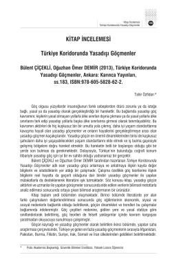 KİTAP İNCELEMESİ Türkiye Koridorunda Yasadışı Göçmenler