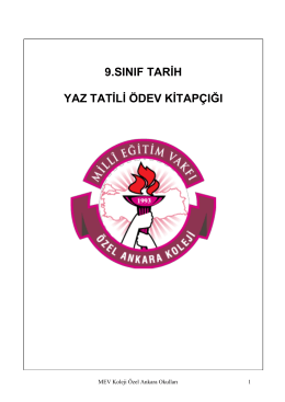 9 TARİH - Mev Koleji