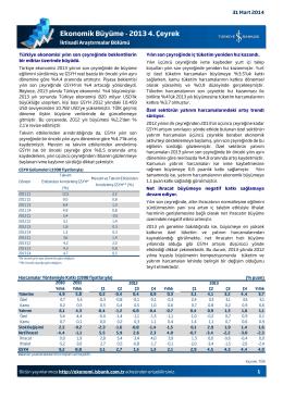 Ekonomik Büyüme - 2013 4. Çeyrek