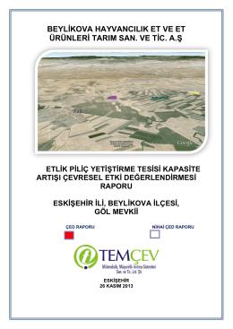 beylikova hayvancılık et ve et ürünleri tarım san. ve tic. a.ş.