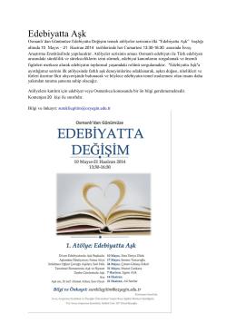 Edebiyatta Aşk