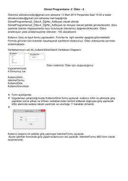 Görsel Programlama -2 Ödev - 4 Ödevinizi alicoskunodev@gmail