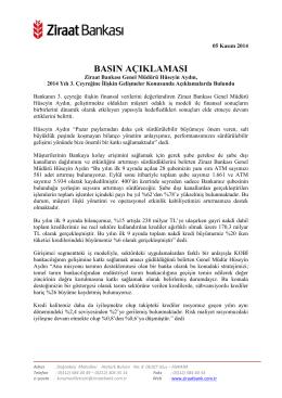 5 Kasım 2014 - Ziraat Bankası