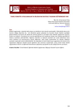 28.Karsan Erbaş - Eğitim ve Öğretim Araştırmaları Dergisi
