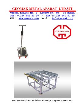 GEOMAK METAL APARAT LTD.ŞTİ - Geomak Metal Aparat Makine