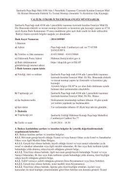 Şanlıurfa Paşa Bağı Mah 4104 Ada 1 Parseldeki Taşınmaz