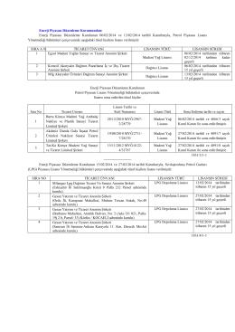 Enerji Piyasası Düzenleme Kurulunun 06/02/2014 ve 13