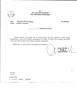 t- İursiui OY-uı Müp. - mut ilçe millî eğitim müdürlüğü
