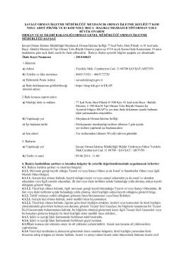 77-81 kod nolu yol ilan - Orman Genel Müdürlüğü