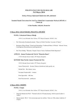 5-8 Mayıs 2014 - İstanbul Teknik Üniversitesi
