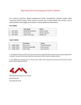 2014 Inelex İzmir fuar kampanyası FineLIFT talihlileri - 4M