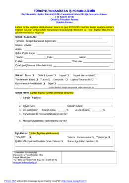Katılım Formu